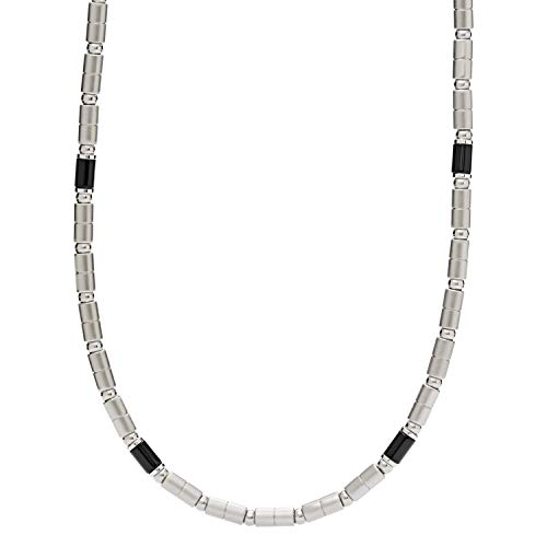 Fossil Collier Edelstahl Achat JF02927040